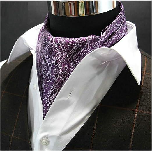 QIANCHENG Hombre Pañuelo Corbatas Jacquard Retro Camisa de Vestir ...
