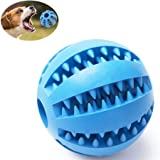 Dog Ball Toy,Nontoxic Bite Resistant Rubber Toy Balls,Chew Training Tooth Cleaning Ball by Standard (Lake Blue)