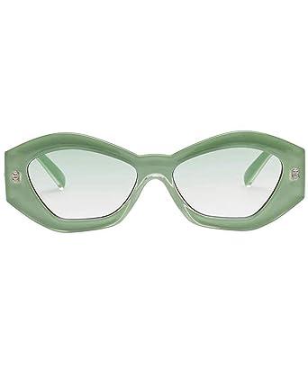 Le Specs Mujeres las gafas de sol más tontas Verde única ...
