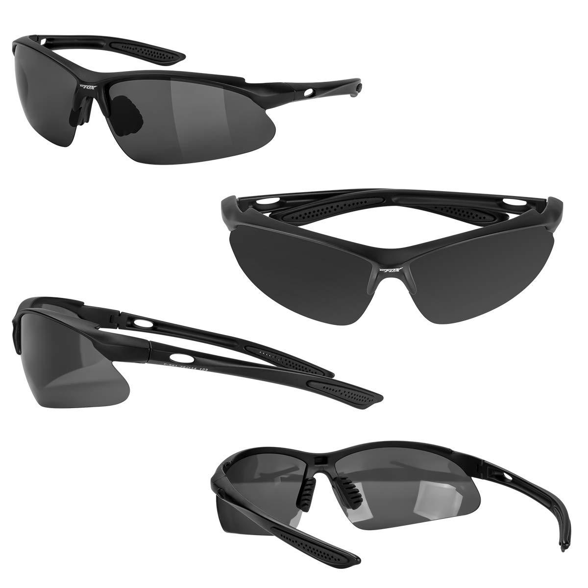 802bf3bcb7a6 Amazon.com : BATFOX Mens Sports Sunglasses Glasses Polarized for Men Women  Youth Running Cycling Baseball Fishing Driving 100% UV Protection  Interchangeable ...