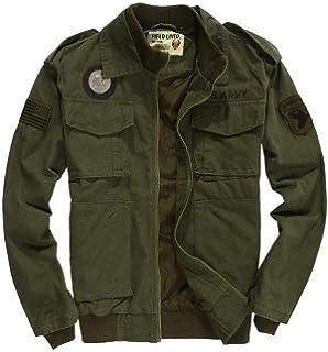 e9c02bdbe6a FGYYG Men s Spring Autumn Classic Cotton Military Jacket Outdoor Casual Multi  Pocket Pilot Bomber Coat Windbreaker