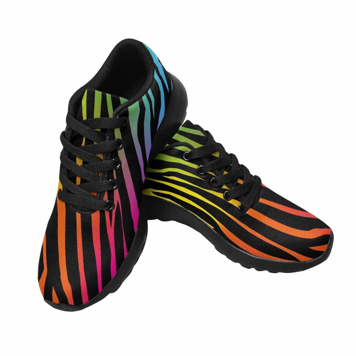 InterestPrint Women's Cross Trainer Trail Running Shoes Jogging Lightweight Sports Walking Athletic Sneakers 11 B(M) US Rainbow Zebra
