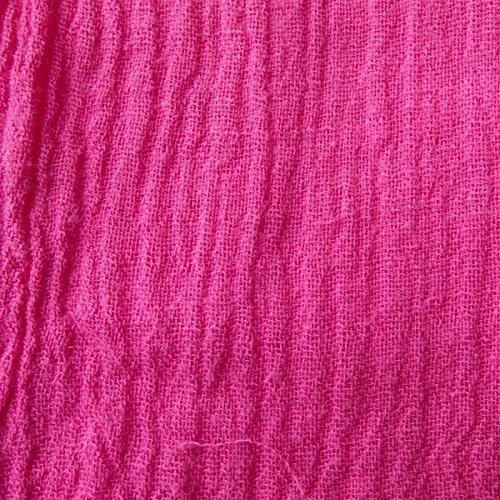 "Cotton Gauze Curtain Panel -Fuchsia (50x63""Inch)"