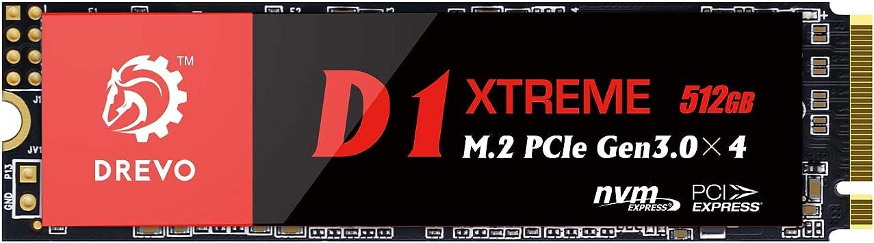 DREVO D1 Xtreme PCIe Gen3x4 NVMe SSD 512GB M.2 2280 ...
