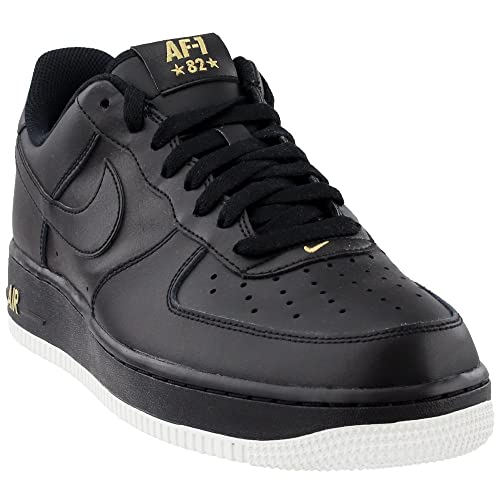 Zapatillas Nike – Air Force 1 07 Negro/Blanco/Dorado Talla: 45