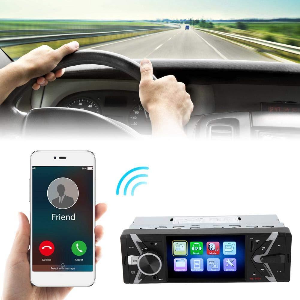 Con c/ámara EBTOOLS 4.1 Pulgadas HD Pantalla LCD BT Manos Libres para Coche MP5 Radio FM Control Remoto