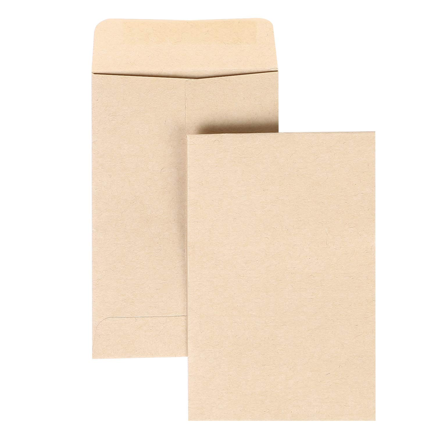 Road 500pcs Brown Kraft Mini Coin Envelopes (2.25 x 3.5 inch) for Wedding, Birthday Party Gift Supplies