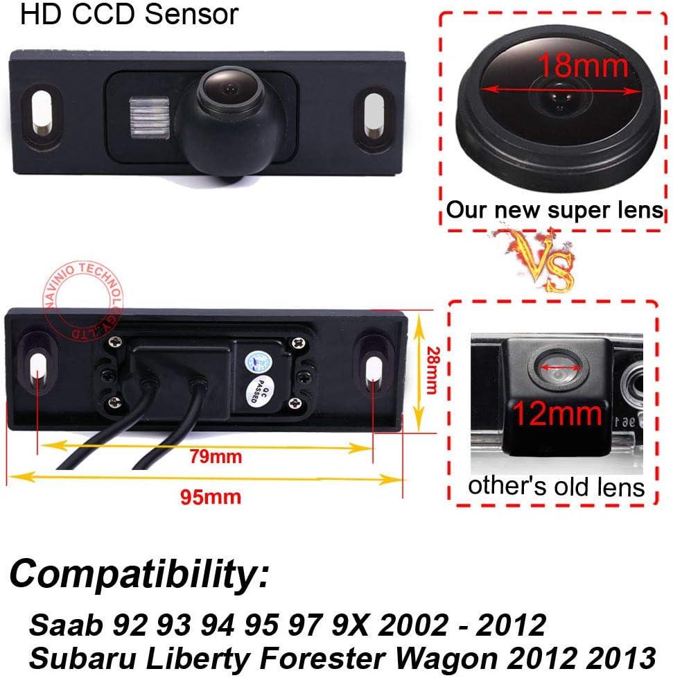 Super HD Vehicle Camera 1280x720 Pixels 1000 TV Lines Waterproof Vehicle Car Rear View Backup Camera 170/° Reverse Camera for Saab 92 93 94 95 97 9X Subaru Liberty Forester Wagon