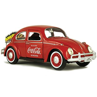MOTOR CITY CLASSICS 1:24 COCA-COLA - 1966 VOLKSWAGEN BEETLE WITH RACK & BOTTLES DIECAST TOY CAR 424067: Toys & Games