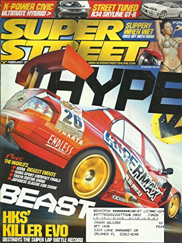 (Super Street Magazine February 2008 KH's Killer EVO, The Worlds Biggest Events SEMA, NHRA Sport Compact Finals, Tokyo Motor Show, Japanese Classic Car Show and More)