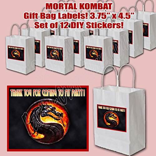 Mortal Kombat Combat Video Game Stickers Party Favors