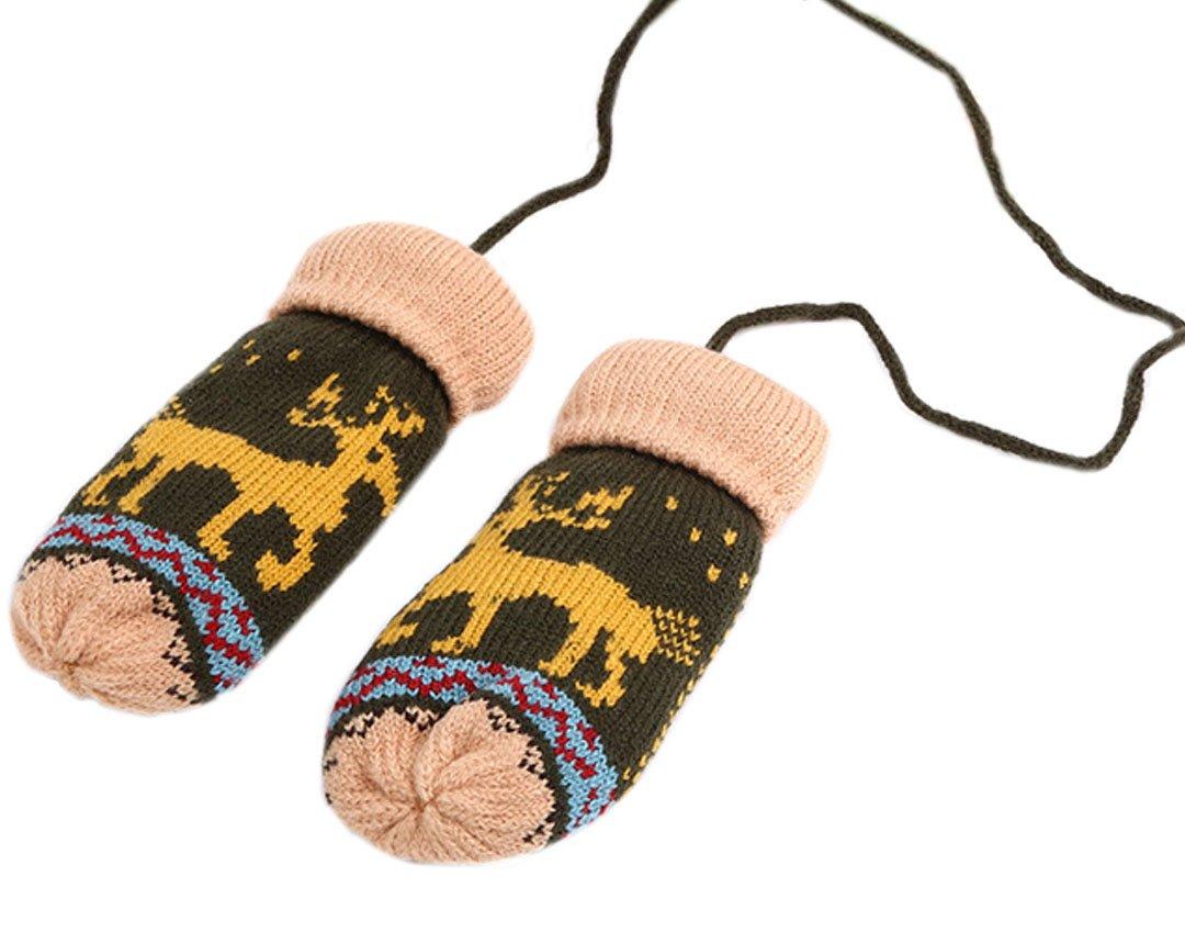 La Haute Kinderhandschuhe für den Winter, gestrickte Thermo-Handschuhe, Weihnachtsgeschenk Gr. Einheitsgröße, Black & Blue