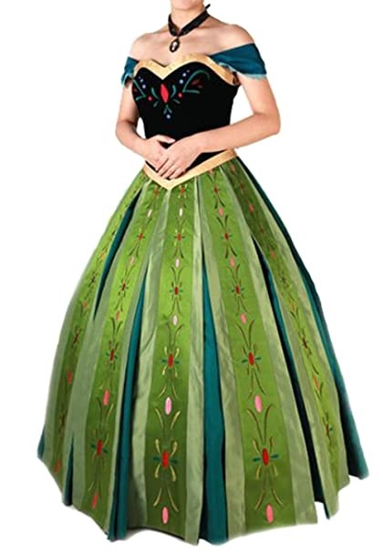 Queen Frozen Anna cosplay Princess Ana dress Cosplay Costume and snow WONDERLAND Ana (L size  sc 1 st  Amazon.com & Amazon.com: Queen Frozen Anna cosplay Princess Ana dress Cosplay ...