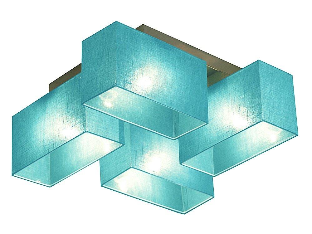 Wero Design Deckenlampe Deckenlampe Deckenlampe Deckenleuchte Leuchte Lampe Holzlampe- ERIS-001 Türkis Transparent 08f492