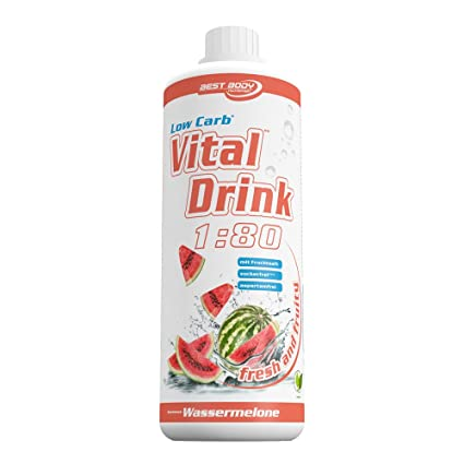 Best Body Nutrition Low Carb Vital Drink Watermelon - 1000 ml