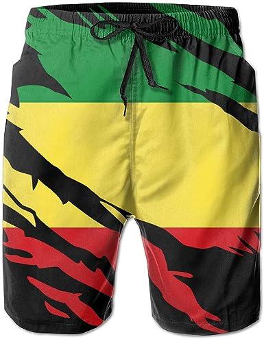 Jhonangel Rastafari Ripped Bandera para Hombres Pantalones Cortos Pantalones Cortos de baño Ropa de Playa Pantalones Cortos de Entrenamiento: Amazon.es: Ropa y accesorios