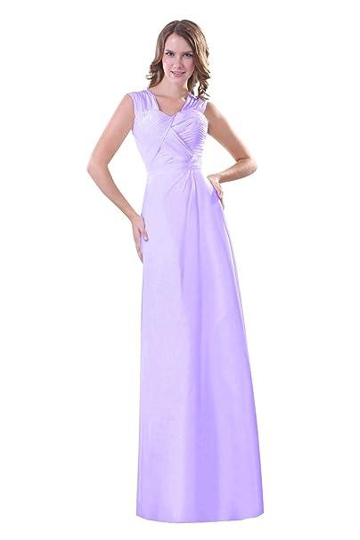 Vestido largo fiesta lila