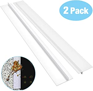 Stove Counter Gap Cover Songway Gap Filler Seals Spills/ 21 inch Silicone Gap Cover/for Countertop, Stove, Oven, Washer, Dryer, Kitchen Appliances, Set of 2 (Translucent White)