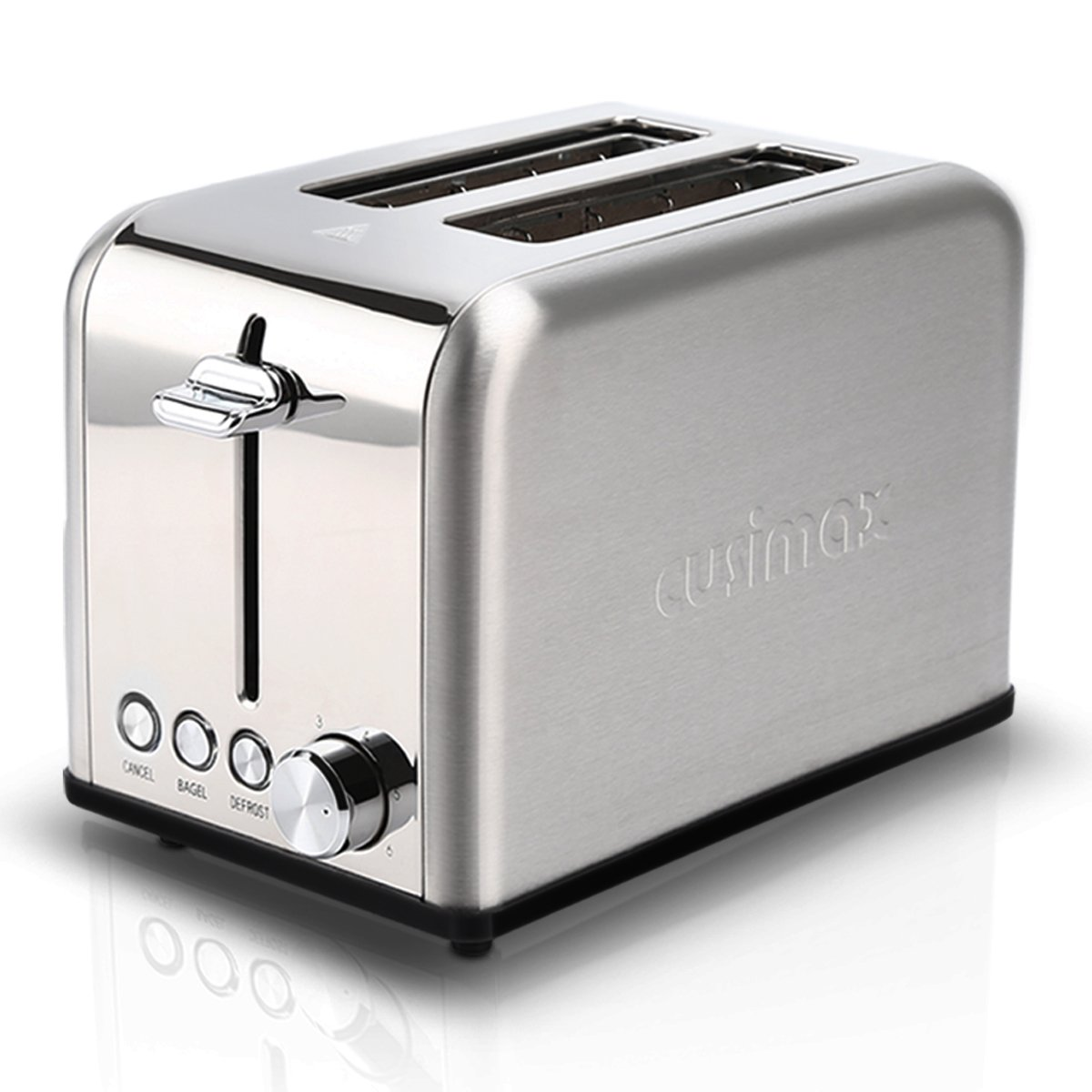 Cusimax 2-Slice Toaster 6 Shade Settings with Cancel/Bagel/Defrost Function - Extra Wide Slot and High Lift Lever - 825W - CMST-80S - Stainless Steel