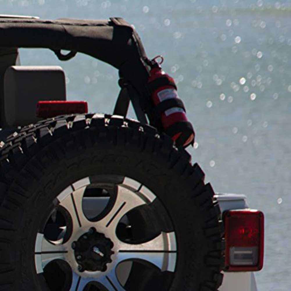 Kinbelle Fire Extinguisher Holder Bag For Jeep Wrangler Car Truck UTV Vehicle Extinguisher Strap Mount Bracket Strap Max. 3lb by Kinbelle (Image #5)