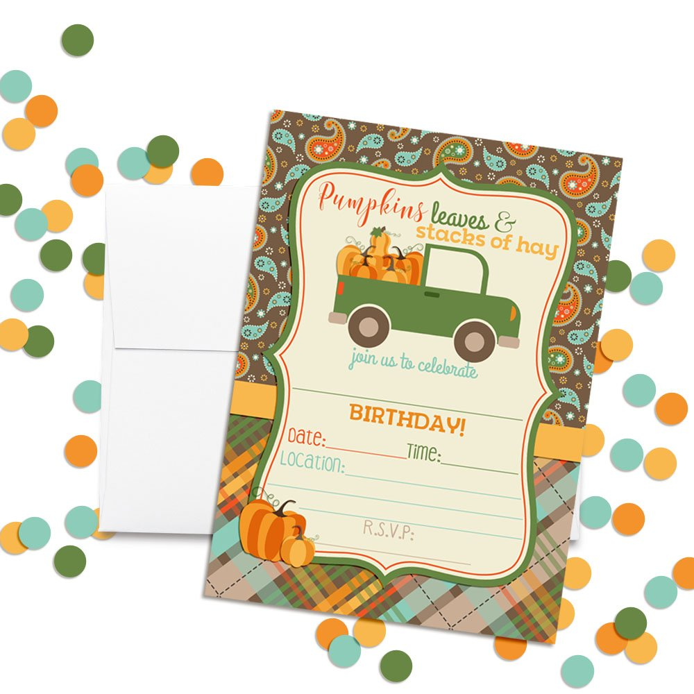 Amazon.com: Pick Up Truck full of Pumpkins Birthday Party ...