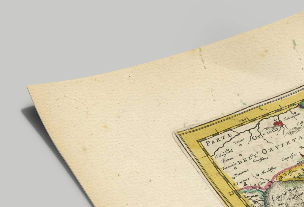 LAquila Terni Lazio Mostra Mappa Antica: Roma Latina Mappa storica Stampa da Atlas Antico di Joan Blaeu the Blaeu Prints