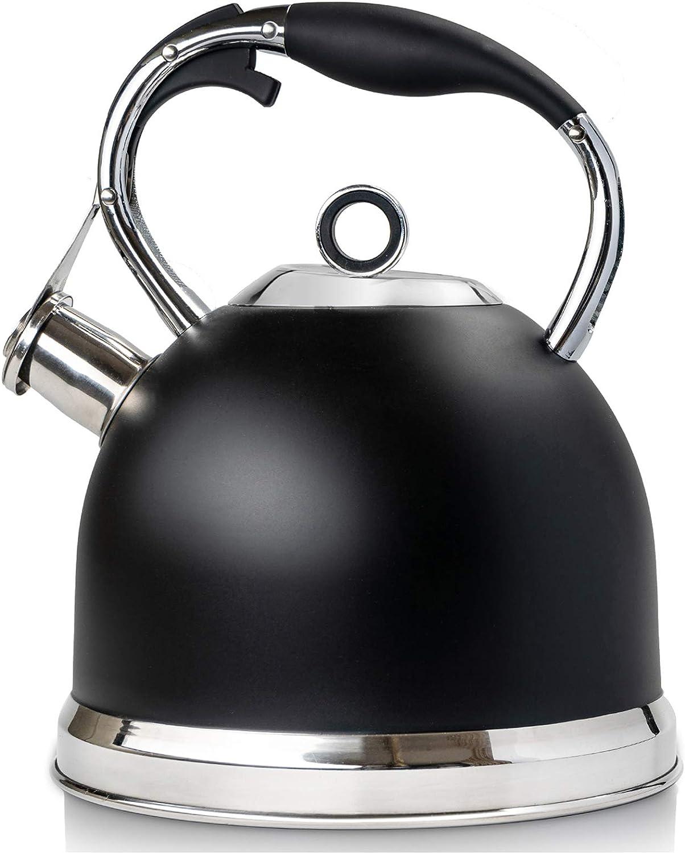 2,5/l staiinless Bouilloire Sifflante en acier l/éger Camping /ébullition rapide de p/êche NEW cr/ème