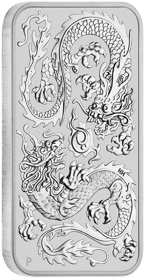 1 Unze Drache Rectangular 2020 Silber 1 oz Silberbarren Perth Mint