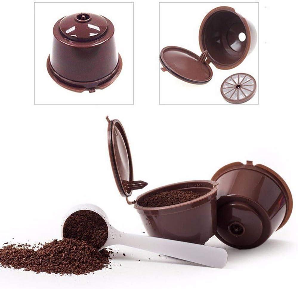 LAAT 2PCS Cápsulas de café Filtro de café Recargable Vainas de ...