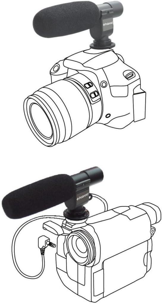 V201 V520 V110 Digital Camcorder V720 Polaroid Pro Video Condenser Shotgun Microphone for The Panasonic HC-X920