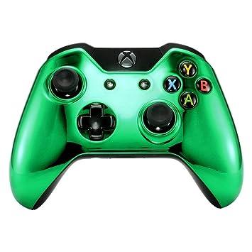 eXtremeRate Carcasa Mando Xbox One Standard Accesorios Protectora Brillante Placa Frontal Funda Delantera Kit de reemplazo Cubierta Shell para Mando ...