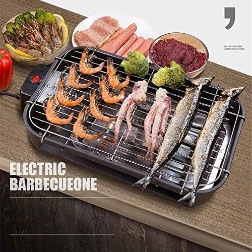 Family Health Grill, Medium Steel Grill, électrique sans fumée Portable BBQ Barbecue Grill d'intérieur rempli d'eau goutte à goutte Plateau réduit odeur de fumée