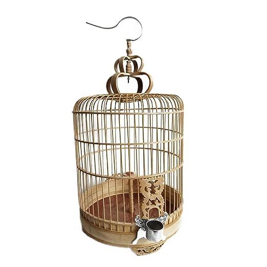 YC electronics Jaulas para pájaros Boutique Jaula de pájaros Bambú ...