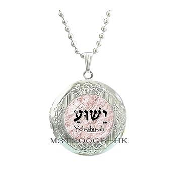 Botewo0lbei YESHUA Locket PendantChristian Jewelry Christian Gifts Necklace