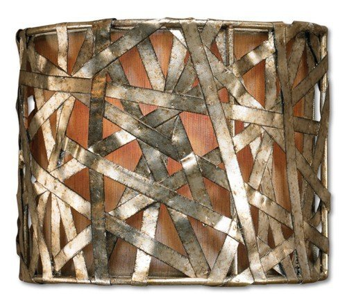 (Naturals Alita Champagne Wall Sconce in Silver Leaf)