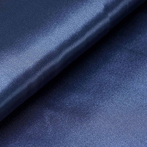 BalsaCircle 54-Inch x 10 Yards Navy Blue Satin Fabric by The Bolt - Wedding Party Decorations Sewing DIY Crafts Costumes
