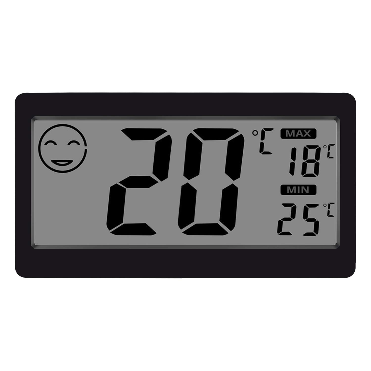 Gellvann Digital Indoor Thermometer Hygrometer Temperature and Humidity Display with 3.3 inch LCD Table Standing Magnet Attaching for Household Office Gym Kitchen (1) TopXun