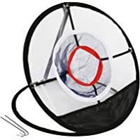 Potatogirl Portable Golf Chipping Net, Foldable Golf Target Net Accuracy Swing Practice 20 Inch With Mat