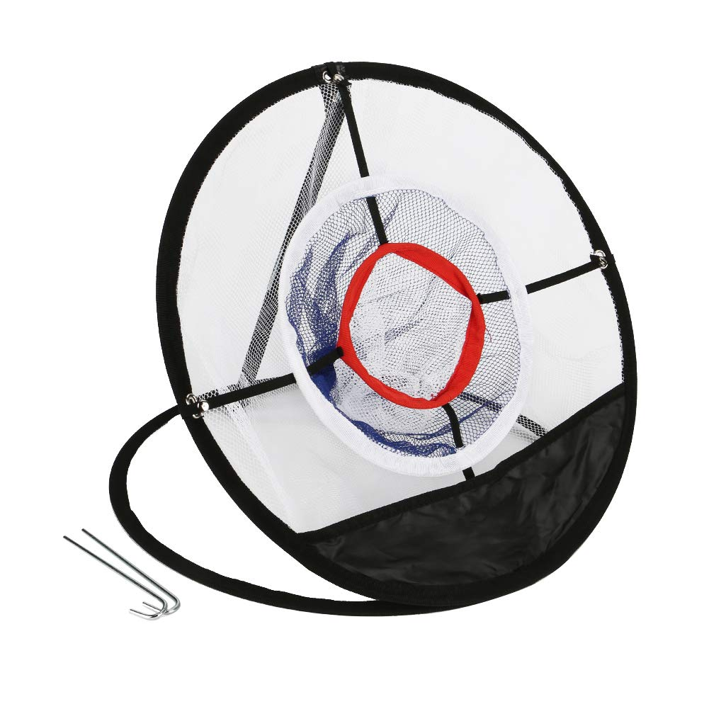 Ambithou Portable Golf Chipping Net - Foldable Golfing Target Net for Accuracy and Swing Practice, Backyard Practice Swing Game