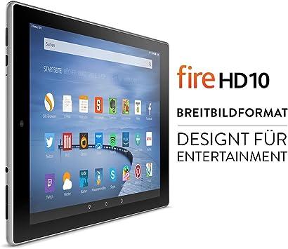 Fire Hd 10 Tablet 25 65 Cm 10 1 Zoll Hd Display Wlan 16 Gb Silbermetallic Mit Spezialangeboten Vorherige Generation Amazon Devices