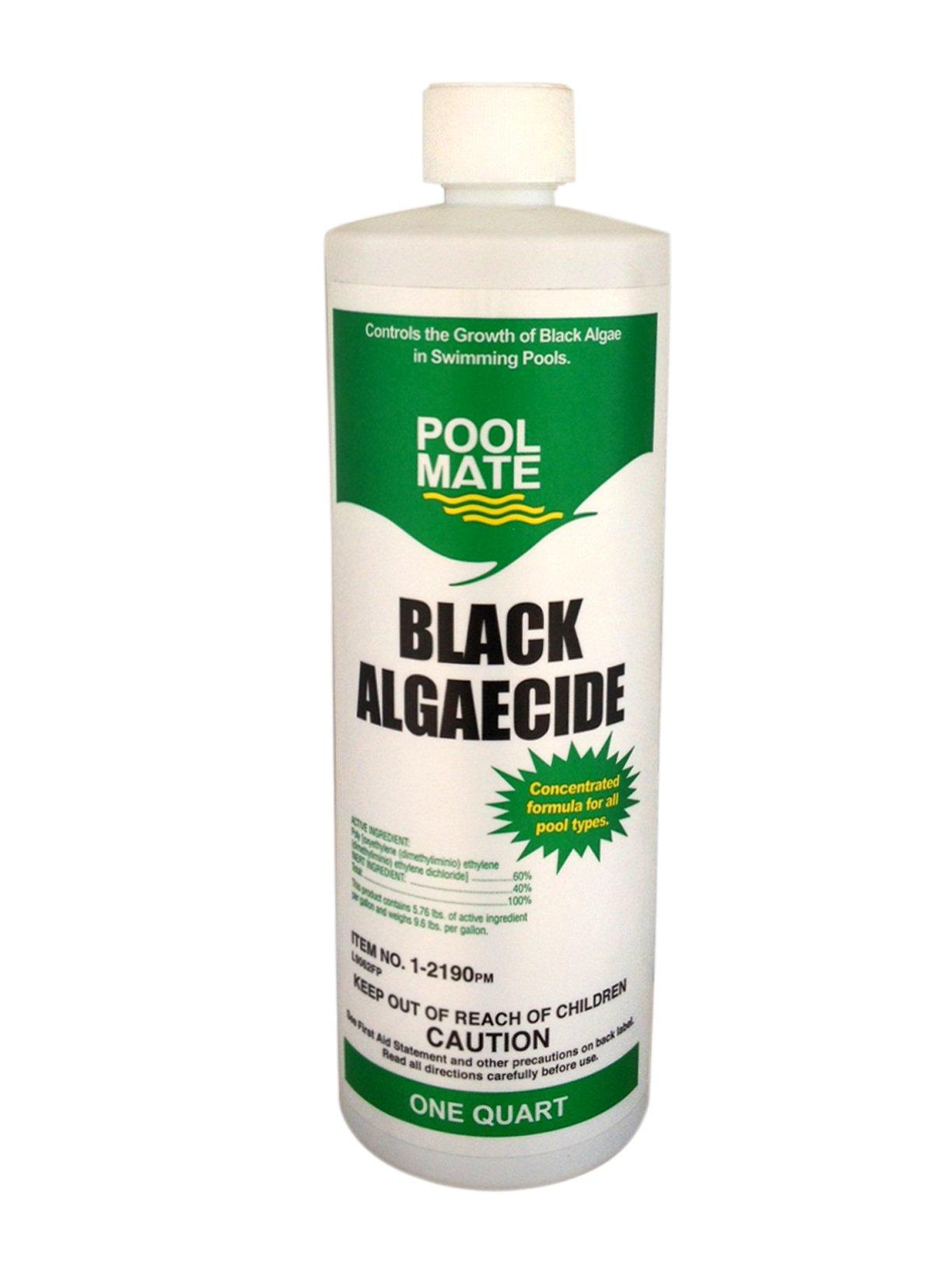 Pool Mate 1-2190 Black Algaecide for Swimming Pools, 1-Quart by Pool Mate