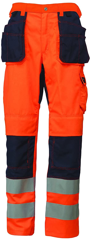Helly Hansen 76494/_265-C60 Bridgewater Construction Hi-Vis Pants Orange//Navy Blue C60