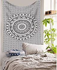 Elephant Mandala Hippie Tapestry Indian Traditional Throw Beach Throw Wall Art College Dorm Bohemian…