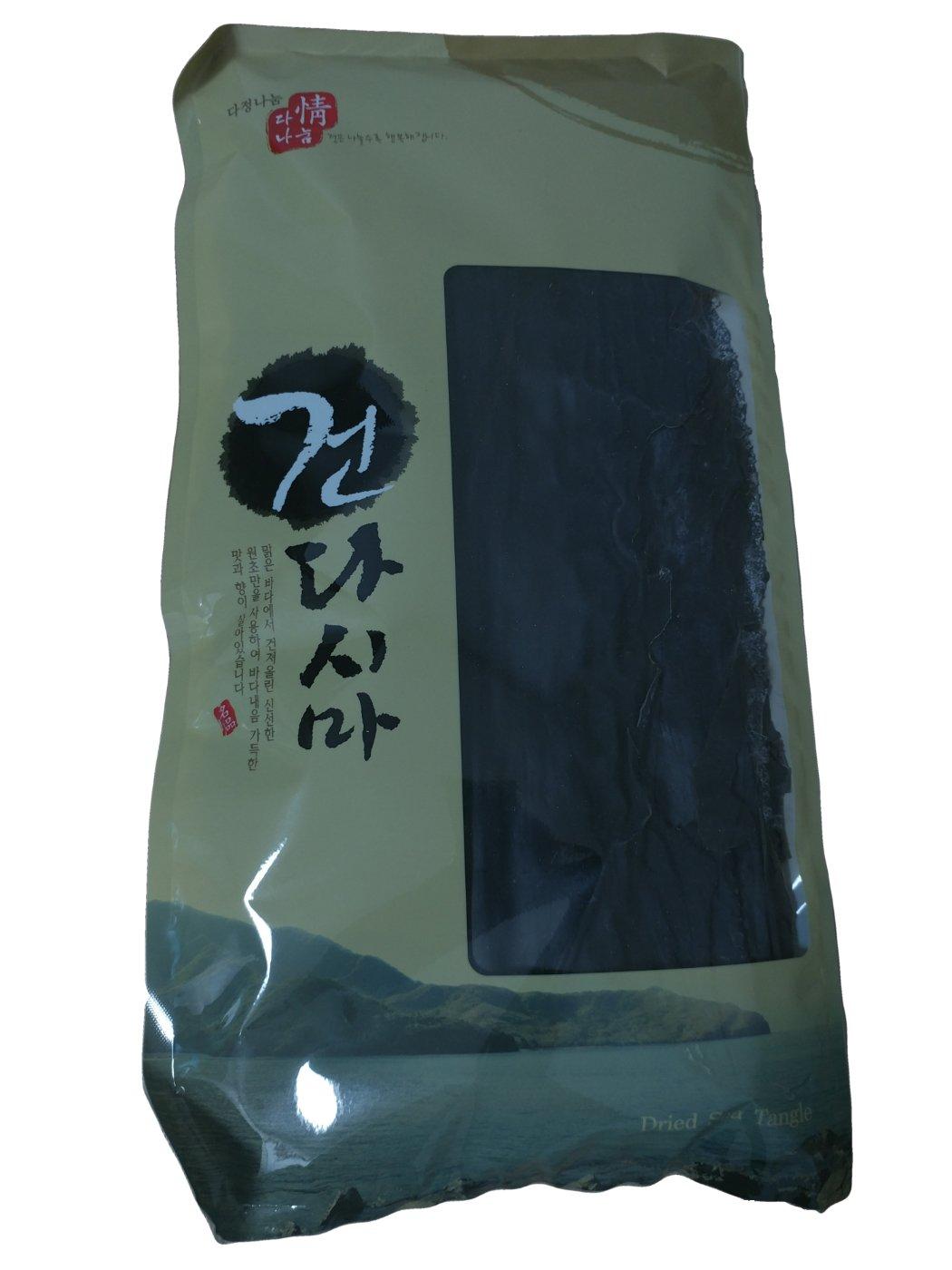 NatureWay Organic Korean Dried Kelp 7.05oz/200g Seaweed for Vegan, Soup Base, Deep-Frying