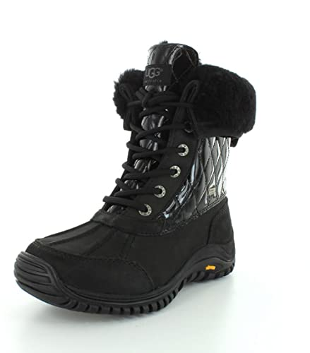 UGG Australia Womens Adirondack II Quilted Black Winter Boot - 6