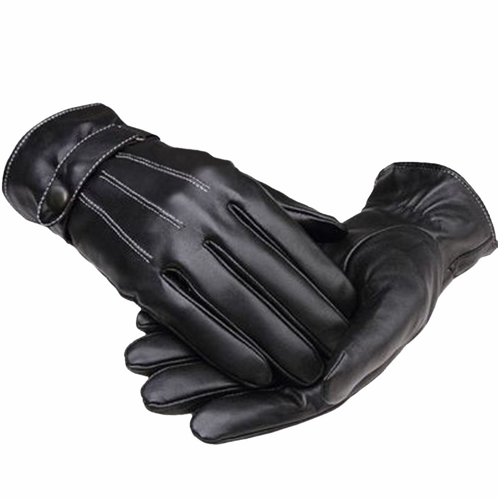Fake leather driving gloves - Imixcity Fashion Winter Warm Faux Leather Cashmere Lining Mens Motor Cycling Gloves New Amazon Co Uk Sports Outdoors