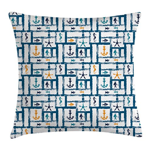 Review Ambesonne Navy Throw Pillow