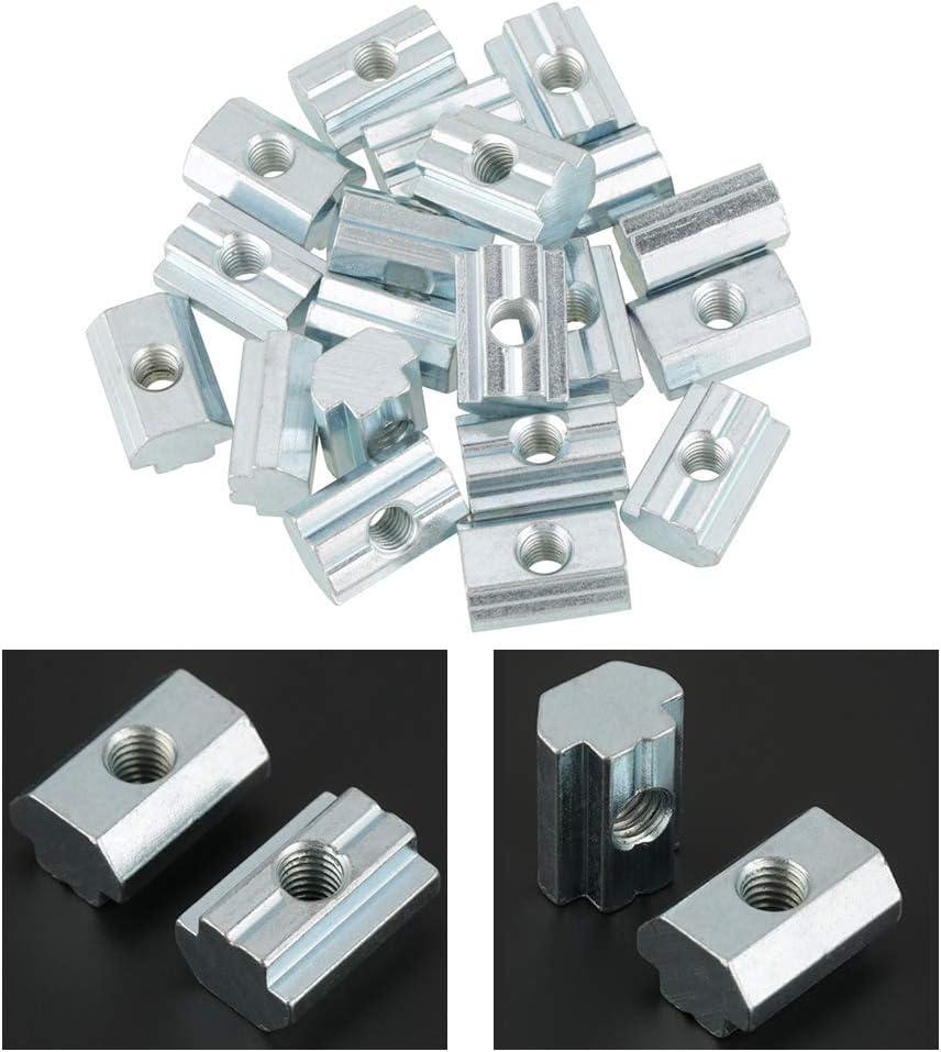 GB slider nut type 40 M8 T-Nut Nutenstein Fydun 20 Tlg Verzinkte Kohlenstoffstahl Nutensteinmutter T-Nut-Muttern f/ür Aluminium Profile Zubeh/ör Vom Typ 40