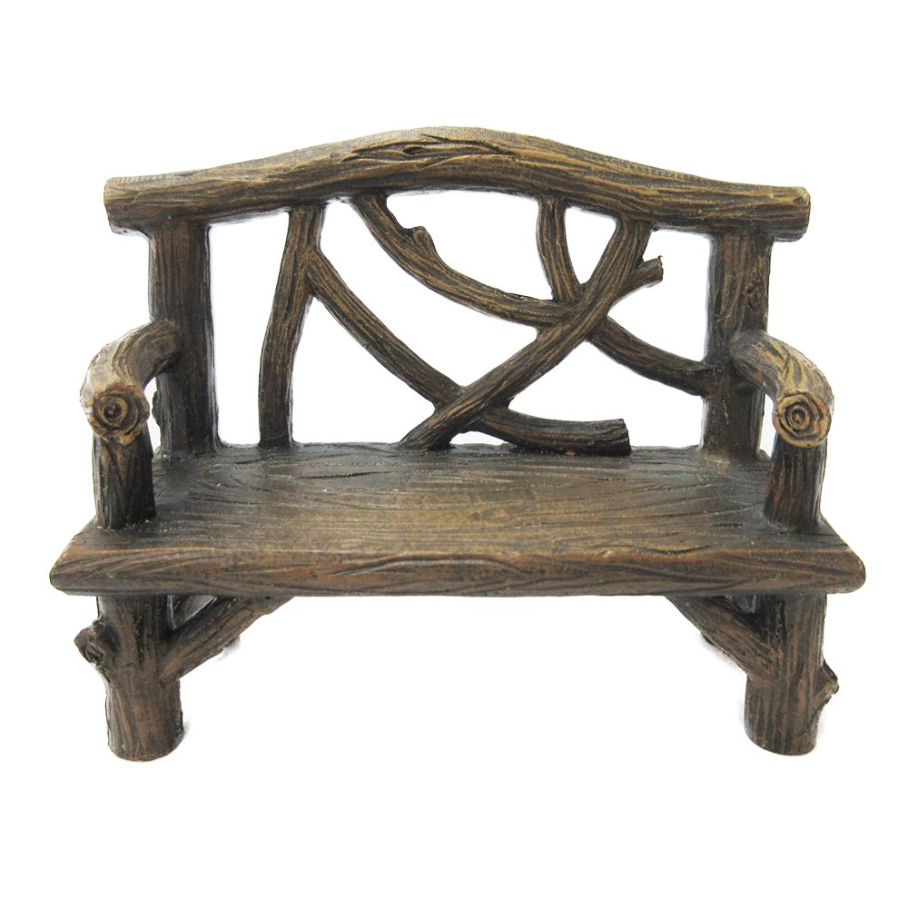 Pacific Giftware Enchanted Garden Tree Stump Bench Mini Fairy Garden Decorative Accessory 4 Inch L