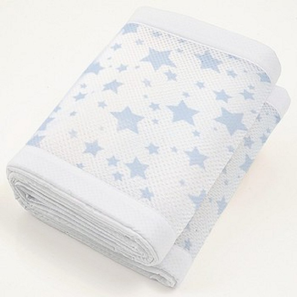 Breathable Baby 4 Sided Cot Mesh Liner, Twinkle Twinkle, Blue Stars Ardega Limited 18434